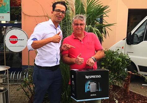 Sommergewinnspiel Gewinner Nespresso 2018