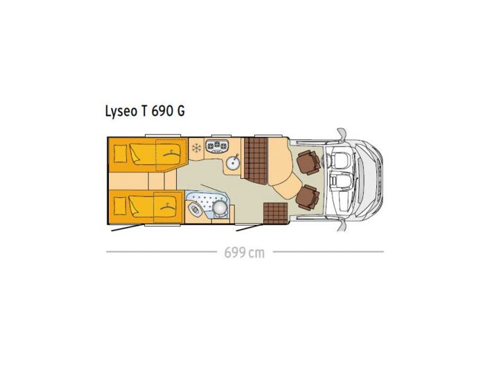 Bürstner Lyseo T690G Querschnitt