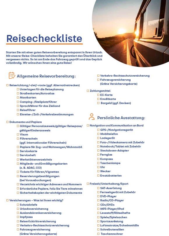 Reisecheckliste-2019